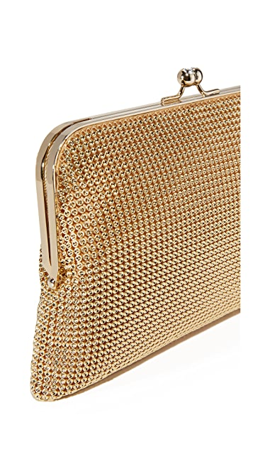 Whiting & Davis Dimple Mesh Clutch