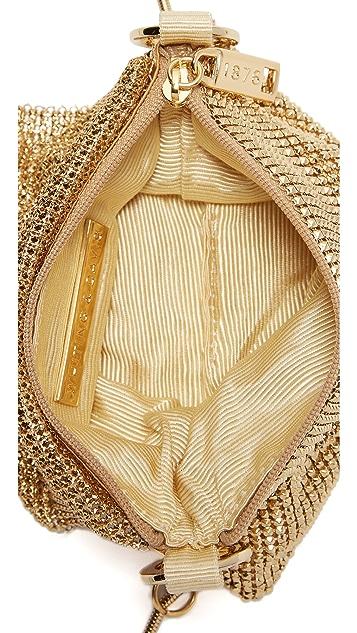 Whiting & Davis Pyramid Mesh Cross Body Bag