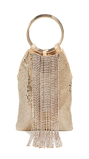 Whiting & Davis Cascade Crystal Bracelet Bag