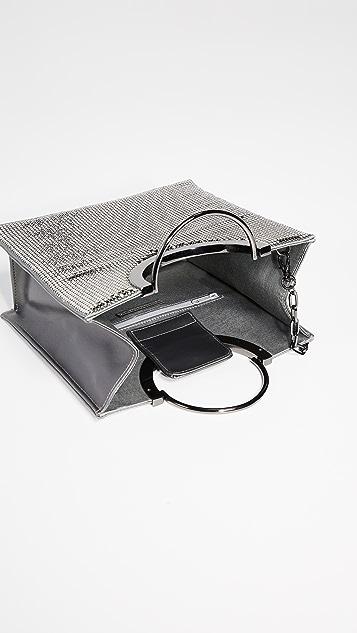 Whiting & Davis Объемная сумка с короткими ручками Nolita с ручкой сверху