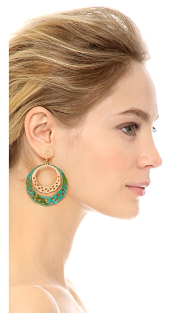 We Dream In Colour Sage Earrings