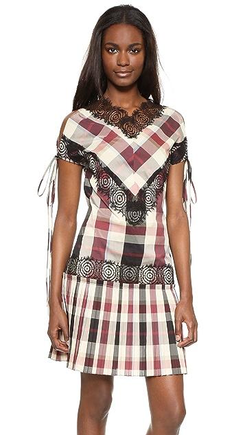 Wes Gordon Rosette Lace Beatrix Dress