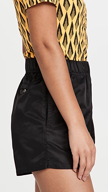 WSLY High Waist Nylon Shorts
