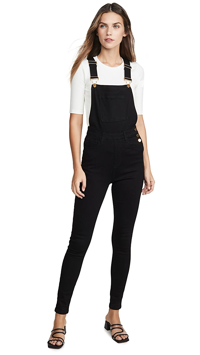 NWT We Wore What High Rise Skinny Overall in White Stretch Coveralls M 6-8 $195