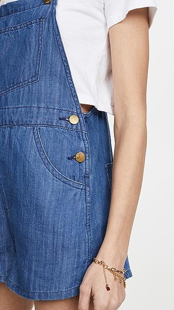 WeWoreWhat 基本款牛仔短连体裤