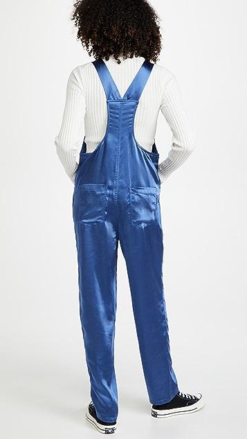 WeWoreWhat Basic 棉缎连体裤
