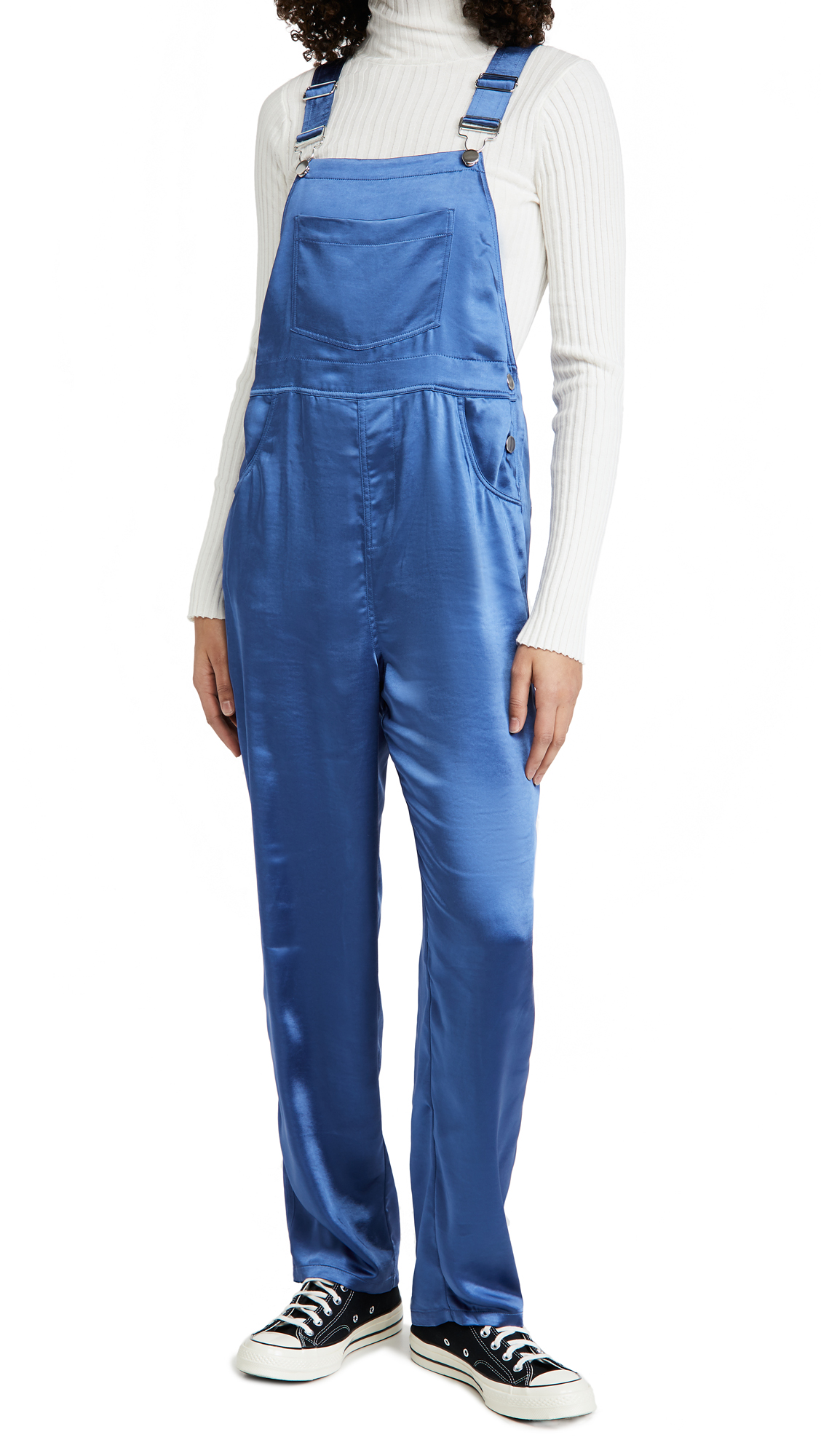 WeWoreWhat Basic Sateen Overalls