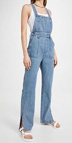 WeWoreWhat - Slouchy Slit Overalls