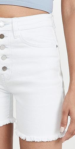 WeWoreWhat - Biker Button Fly Shorts