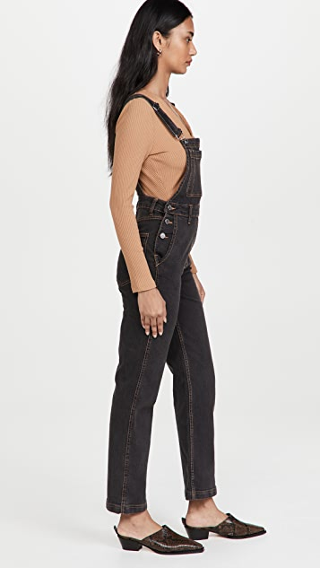 WeWoreWhat Straight Tapered Overalls