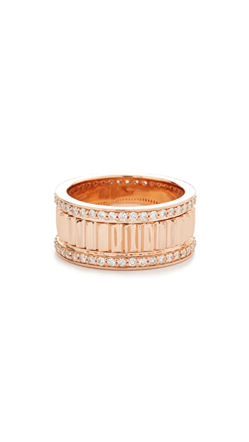 Walters Faith Clive Small Diamond Fluted Band Ring