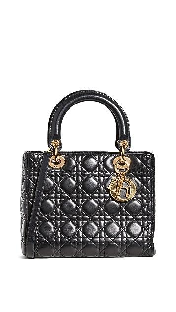 What Goes Around Comes Around Маленькая сумочка Dior Lady Dior (бывшая в употреблении)