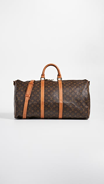 d05a063985677 What Goes Around Comes Around Heritage Louis Vuitton Monogram Keepall 55  Bag ...