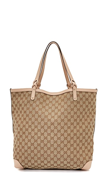 34f6a68d9 What Goes Around Comes Around Gucci Craft Tote (Previously Owned ...