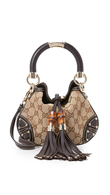 25792a3454efa2 What Goes Around Comes Around Gucci Indy Mini Bag (Previously Owned ...