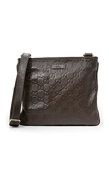 41696c3583c2 What Goes Around Comes Around. Gucci Guccissima Messenger Bag (Previously  Owned)