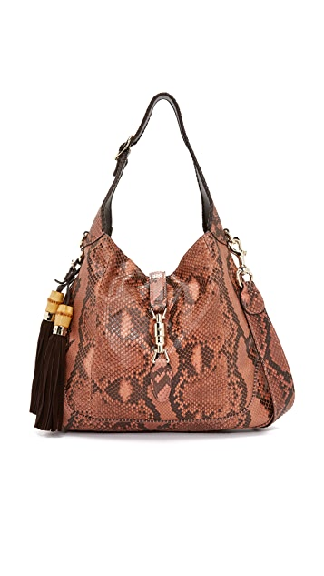 What Goes Around Comes Around Gucci Python New Jackie Shoulder Bag (Previously Owned)