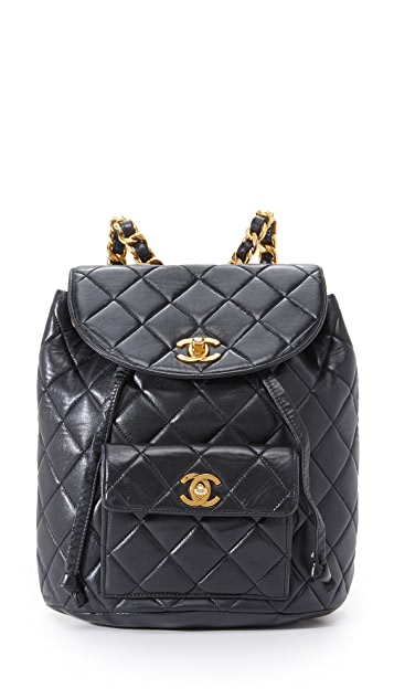 What Goes Around Comes Around Chanel Classic Backpack (Previously Owned) - Black