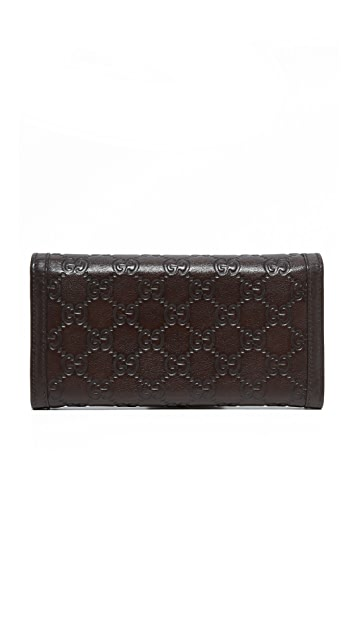 What Goes Around Comes Around Gucci GG Guccissima Wallet (Previously Owned)