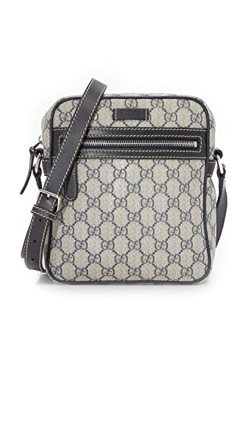 What Goes Around Comes Around Gucci Coated Canvas Shoulder Bag (Previously Owned)