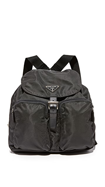What Goes Around Comes Around Prada Small Nylon Backpack (Previously Owned)