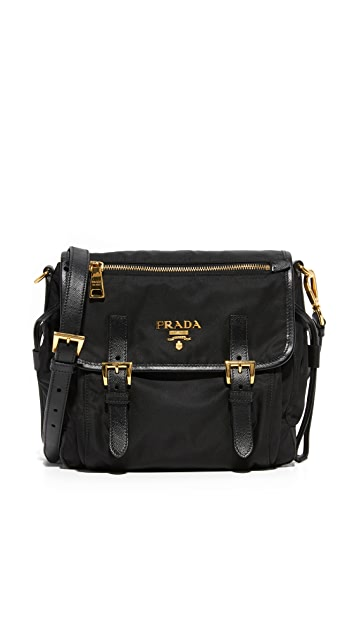67d1fb9821fb What Goes Around Comes Around. Prada Small Nylon Shoulder Bag (Previously  Owned)