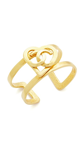 What Goes Around Comes Around Chanel Open Heart Cuff (Previously Owned)