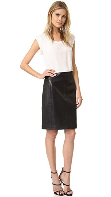 What Goes Around Comes Around Alaia Leather Skirt (Previously Owned)