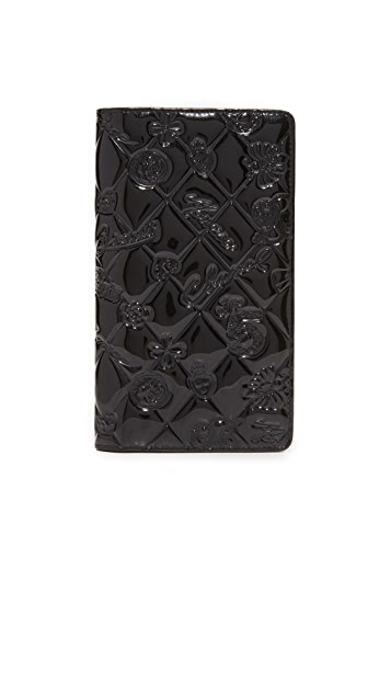 What Goes Around Comes Around Patent Chanel Icon Wallet (Previously Owned)