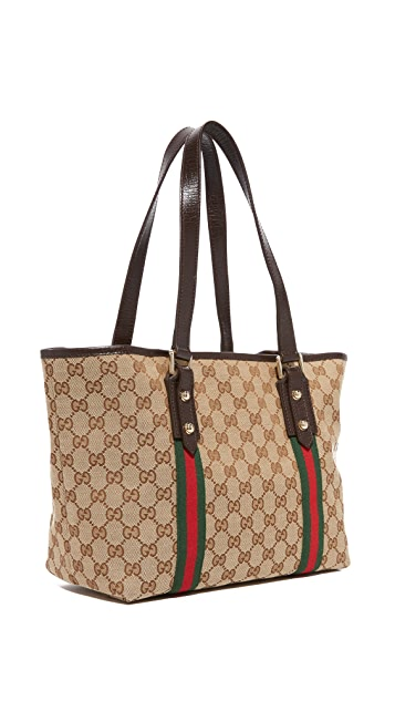 c50242e61fa5 ... What Goes Around Comes Around Gucci Jolicoeur Tote (Previously Owned)  ...