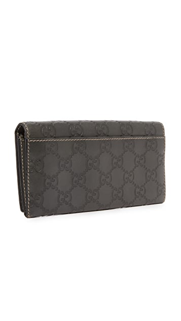 What Goes Around Comes Around Gucci Guccissima Wallet (Previously Owned)