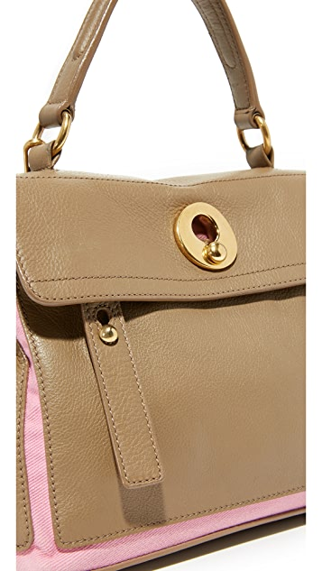 What Goes Around Comes Around YSL Taupe Muse Bag (Previously Owned)