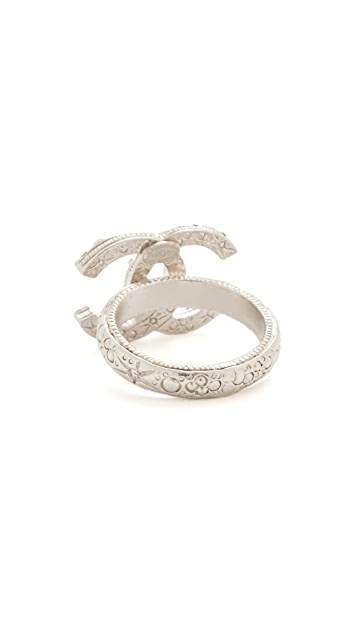 What Goes Around Comes Around Previously Owned Chanel CC Ring