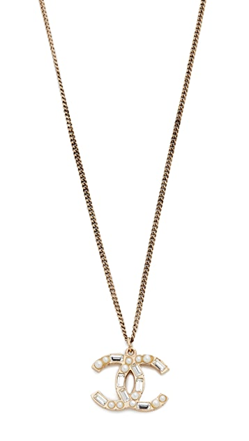 What Goes Around Comes Around Chanel Studded CC Necklace (Previously Owned)