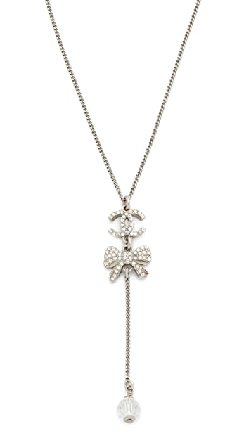 What Goes Around Comes Around Chanel Bow Necklace (Previously Owned)