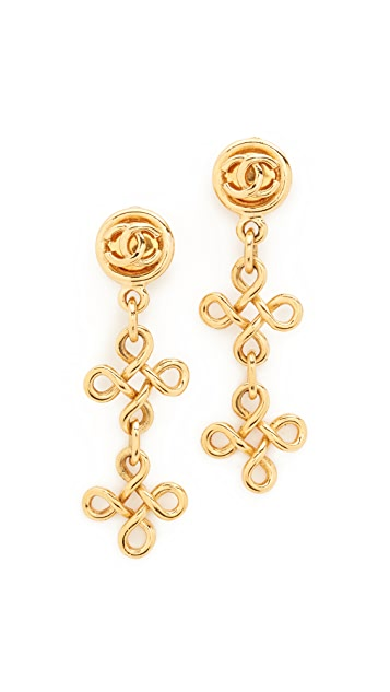 What Goes Around Comes Around Chanel Dangle Earrings (Previously Owned)