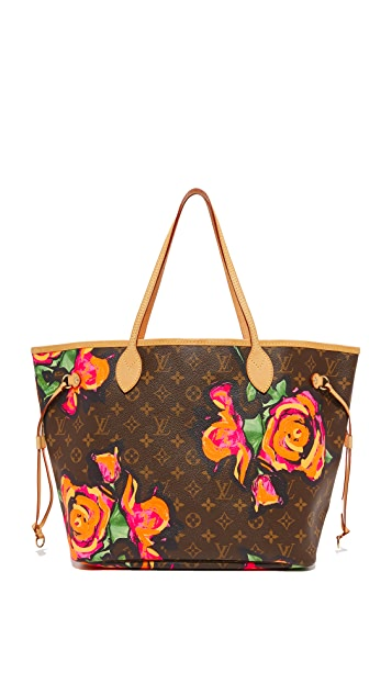 What Goes Around Comes Around Louis Vuitton Roses Neverfull Bag (Previously Owned)