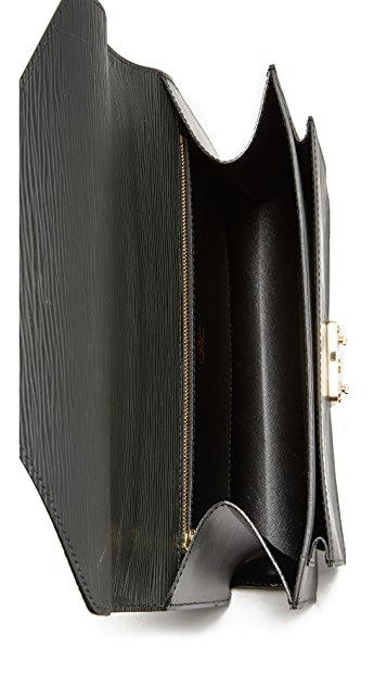 What Goes Around Comes Around Louis Vuitton Black Epi Monceau (Previously Owned)
