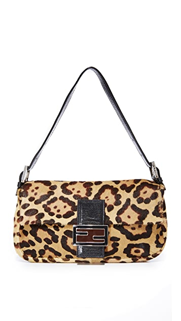 0946fa46b57a What Goes Around Comes Around. Fendi Leopard Pony Baguette Bag ...