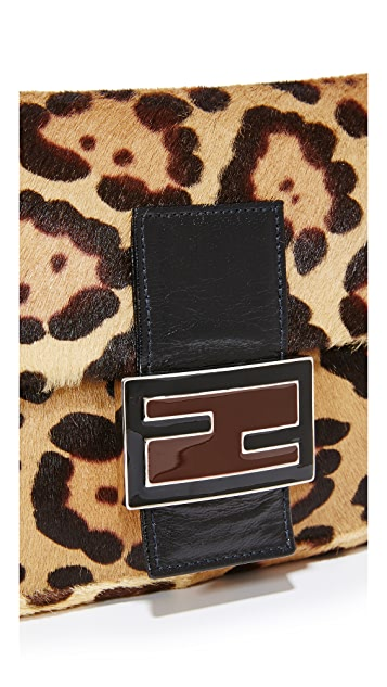 ff87f4d19b7e ... What Goes Around Comes Around Fendi Leopard Pony Baguette Bag  (Previously Owned) ...