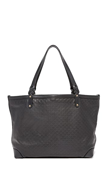 What Goes Around Comes Around Gucci Black Micro Craft Tote (Previously Owned)