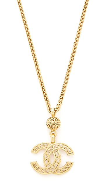 What Goes Around Comes Around Chanel Fretwork CC Necklace (Previously Owned)
