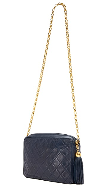 What Goes Around Comes Around Chanel Diagonal Flap Camera Bag (Previously Owned)