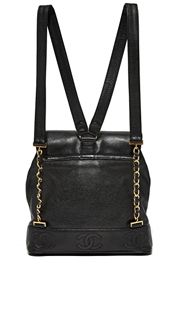 What Goes Around Comes Around Chanel Caviar CC Backpack (Previously Owned)