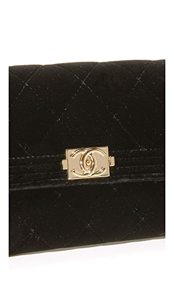What Goes Around Comes Around Chanel Velour Bag (Previously Owned)