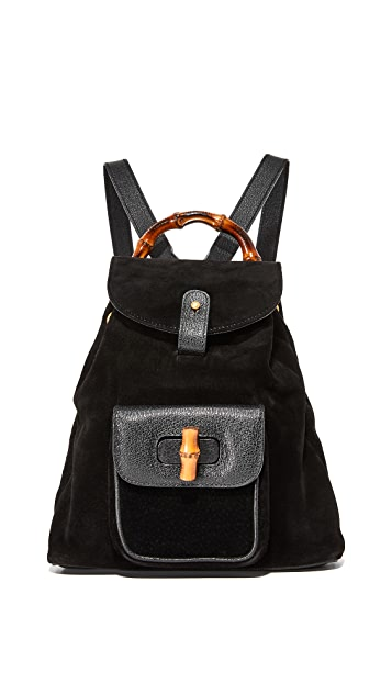 601dd50fa66c What Goes Around Comes Around. Gucci Suede Bamboo Backpack ...