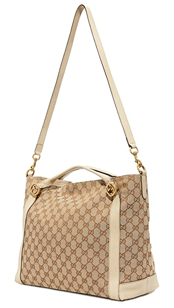 What Goes Around Comes Around Gucci Canvas Miss Tote (Previously Owned)