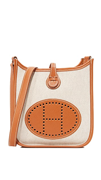 What Goes Around Comes Around Hermes Canvas Evelyne Bag (Previously Owned)
