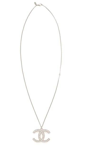 What Goes Around Comes Around Chanel Crystal CC Large Necklace (Previously Owned)