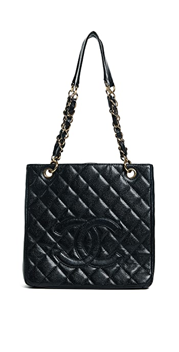 What Goes Around Comes Around Chanel PST Tote - Black